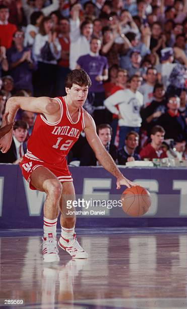UNIVERSITY OF INDIANA GUARD STEVE ALFORD DURING THE HOOSIERS VERSUS NORTHWESTERN WILDCATS GAME AT MCGAW HALL IN EVANSTON ILLINOIS