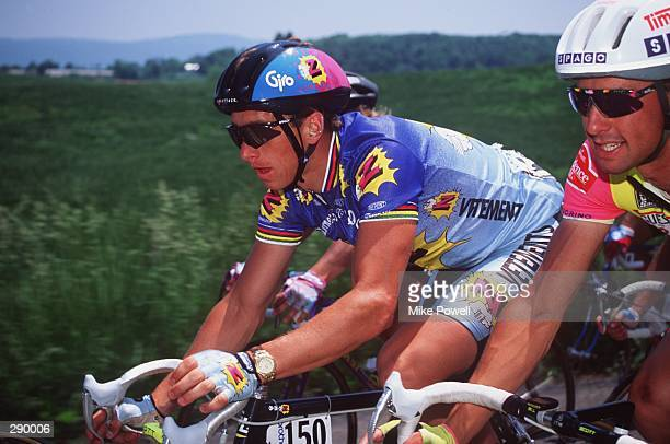 GREG LEMOND, USA, DURING THE 8TH STAGE OF THE 1991 TOUR DUPONT.
