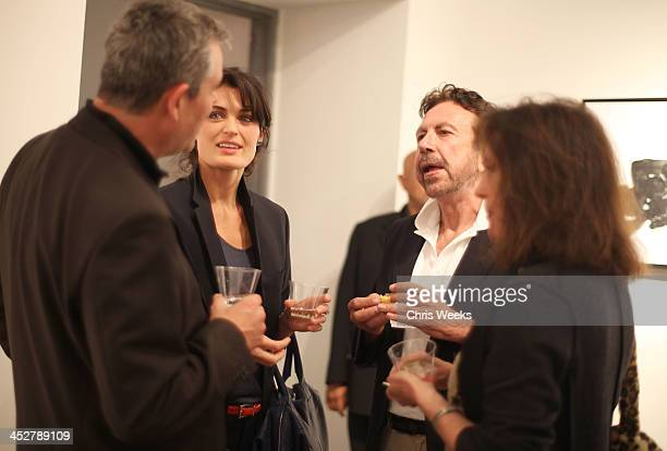 Actress Lyne Renee and guests attend the private preview of Robert Graham's Last Works at Ace Gallery on April 16, 2009 in Los Angeles, California.