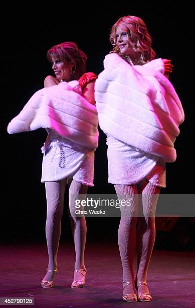Actresses Nancy Grahn and Michelle Stafford perform at What A Pair! benefiting The John Wayne Cancer Institute at St. John's Health Center at The...