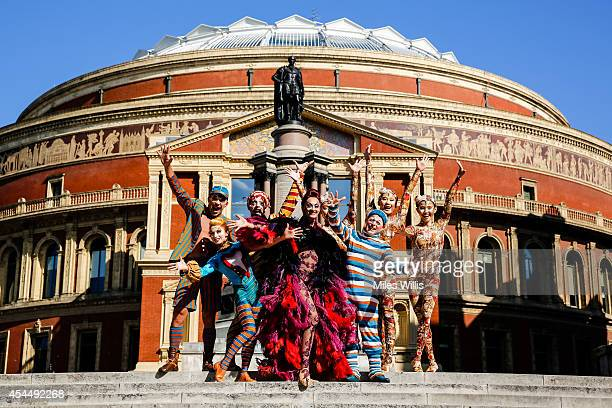 Cast members perform during the launch of Cirque du Soleil's Kooza at The Royal Albert Hall on September 2 2014 in London England Tickets for Kooza...