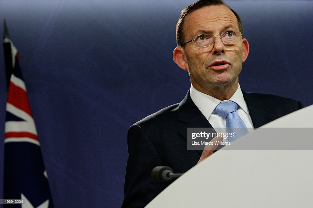 Prime Minister Tony Abbott Reacts To Death Of Former Prime Minister Malcolm Fraser
