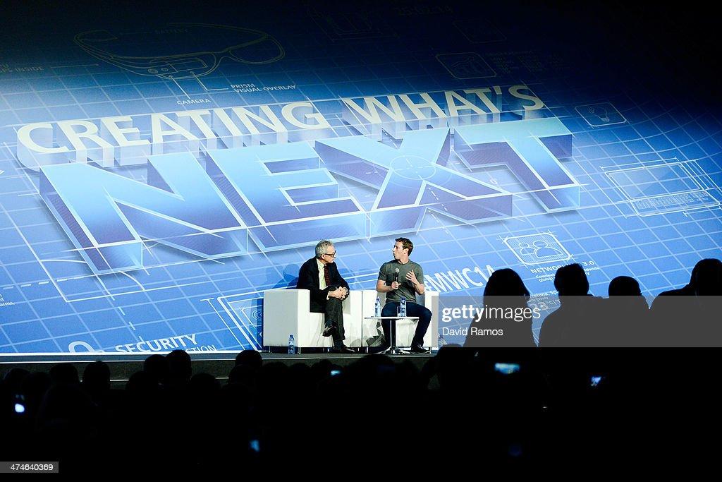 Mark Zuckerberg Attends Mobile World Congress 2014 : News Photo