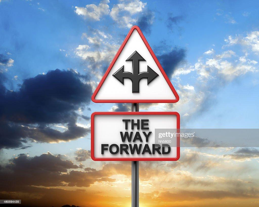 THE WAY FORWARD : Stock Photo