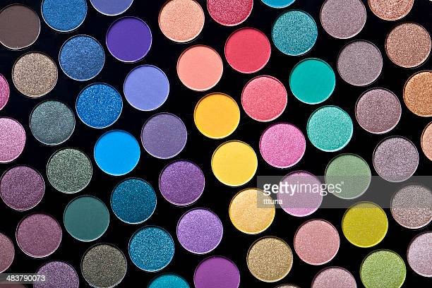 colorful circle pattern, creative abstract design background photo - eyeshadow stock pictures, royalty-free photos & images