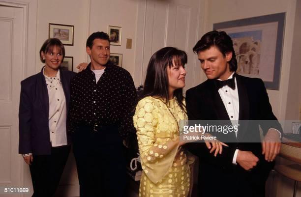 PENNY COOK TONY MARTIN AUSTRALIAN ACTRESS TONI PEAREN AND MALCOM KENNARD AT TV SERIES E STREET