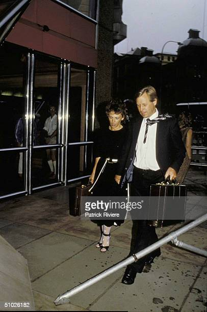 LINDY AND MICHAEL CHAMBERLAIN OUTSIDE THE COURT IN SYDNEY. .