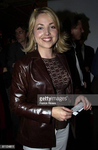 NEWSREADER MONIQUE WRIGHT AT SYDNEY THEATRE COMPANY'S OPENING NIGHT OF INHERITANCE AT THE DRAMA THEATER IN SYDNEY OPERA HOUSE. .