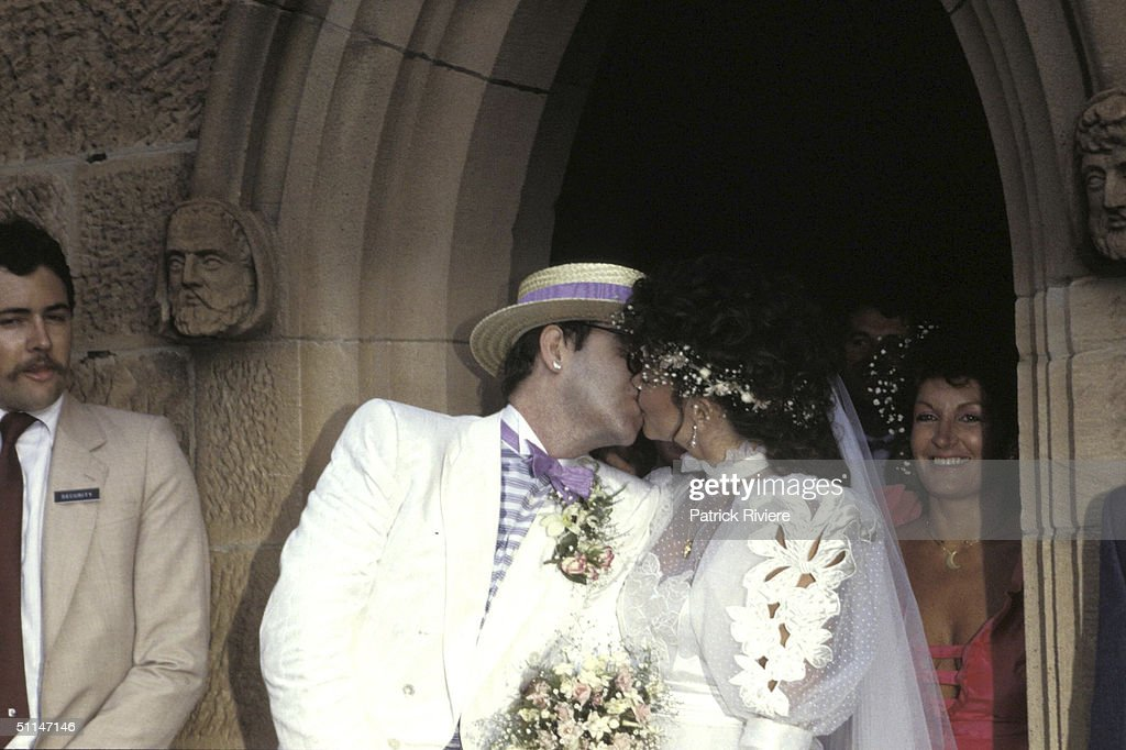 Elton John and Renate Blauel 's Wedding : News Photo