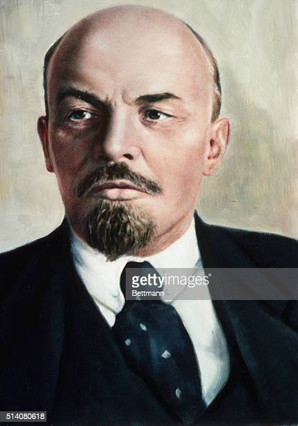 VLADIMIR ILYICH LENIN RUSSIAN REVOLUTIONARY LEADER UNDATED COLOR DUPE