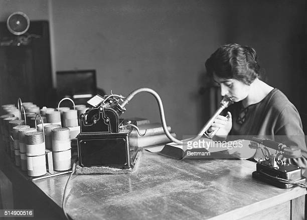 DICTAPHONE IN USEUNDATED PHOTOGRAPH