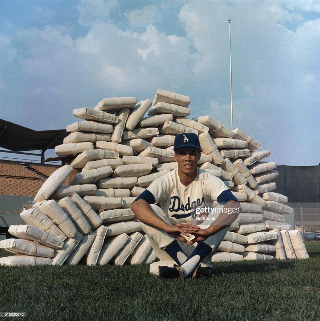 Baseball Player Maury Wills : News Photo