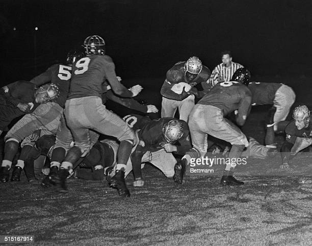 Jackie Robinson Running with Football