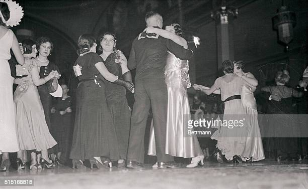 Couples Dancing at Speakeasy Nightclub