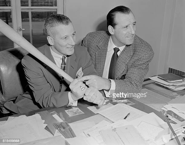 Hank Greenberg Pointing to Al Rosen's Pinkie Finger