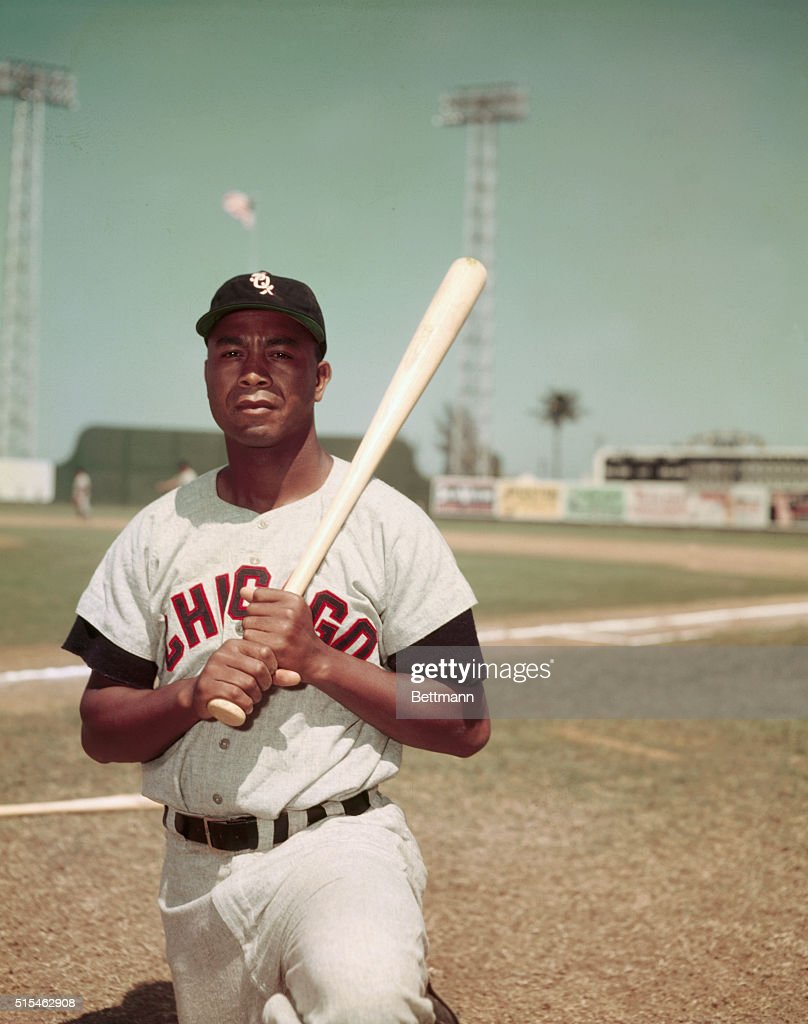 Larry Doby Holding a Baseball Bat