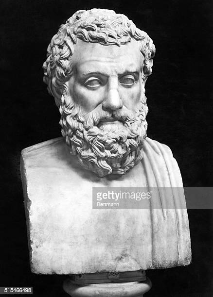 SOPHOCLES. GREEK PLAYWRIGHT, NAPLES. UNDATED. PHOTOGRAPH OF STATUE.