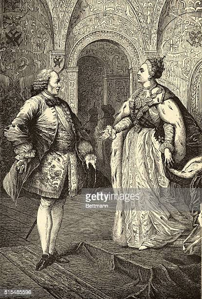DENIS DIDEROT AND CATHERINE II THE GREAT UNDATED ILLUSTRATION