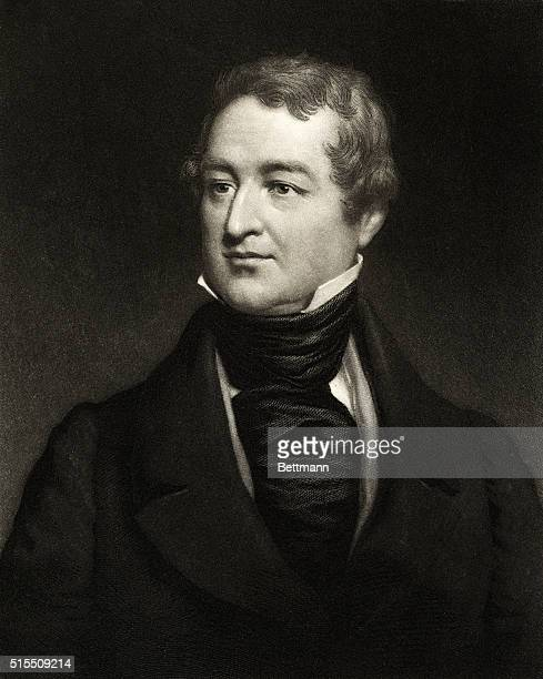 SIR ROBERT PEEL ENGLISH POLITICIAN HEAD AND SHOULDERS PORTRAITUNDATED ENGRAVING BY J SARTRAIN