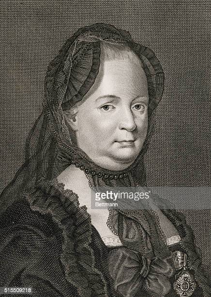 MARIA THERESA ARCHDUCHESS OF AUSTRIA AND QUEEN OF HUNGARY AND BOHEMIAUNDATED ENGRAVING