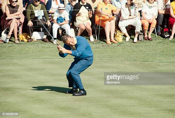 MASTERS GOLF ARNOLD PALMER IN ACTION DURING THE FIRST ROUND OF PLAY 4/11/68 COLOR DUPE