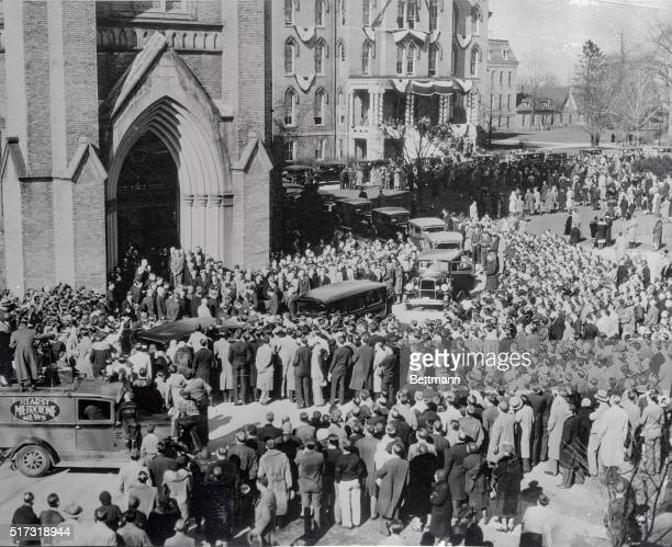 Funeral of Knute Rockne at Sacred Heart Church