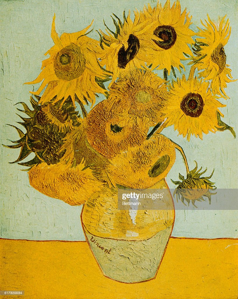Sunflowers by Vincent van Gogh : News Photo