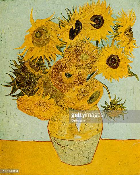 SUNFLOWERS PAINTING BY VINCENT VAN GOGH
