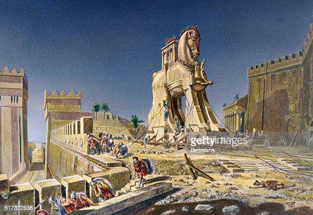 THE TROJAN HORSE AFTER A PAINTING BY HENRI MOTTE CORCORAN GALLERY WASHINGTON DC