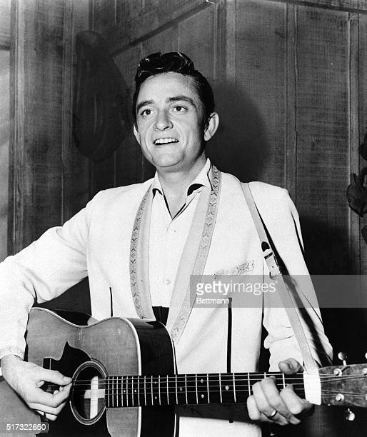 """JOHNNY CASH.....THE NATIONS NEWEST SINGING SENSATION, GUEST STARS ON THE MUSICAL HALF HOUR SERIES """"RANCH PARTY."""" FILED 1966."""