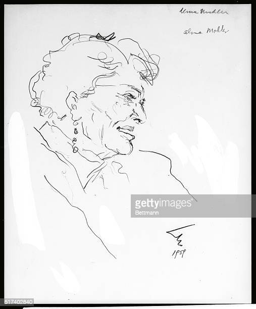 WIFE OF FRANZ WERFEL AND GUSTAVE MAHLER AS WELL AS OTHER FAMOUS EUROPEANS MISTRESS OF SEVERAL OTHERS WROTE 'AND THE BRIDGE IS LOVE' SKETCH BY DOLBIN...