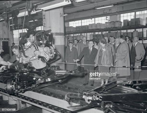 Queen Juliana and Prince Bernhard Touring Ford Plant