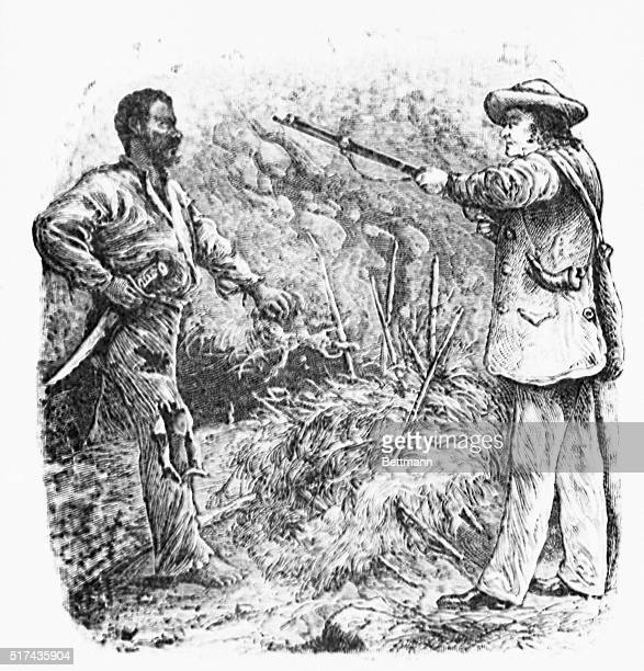 SLAVE NAT TURNER DISCOVERED UNDATED WOODCUT