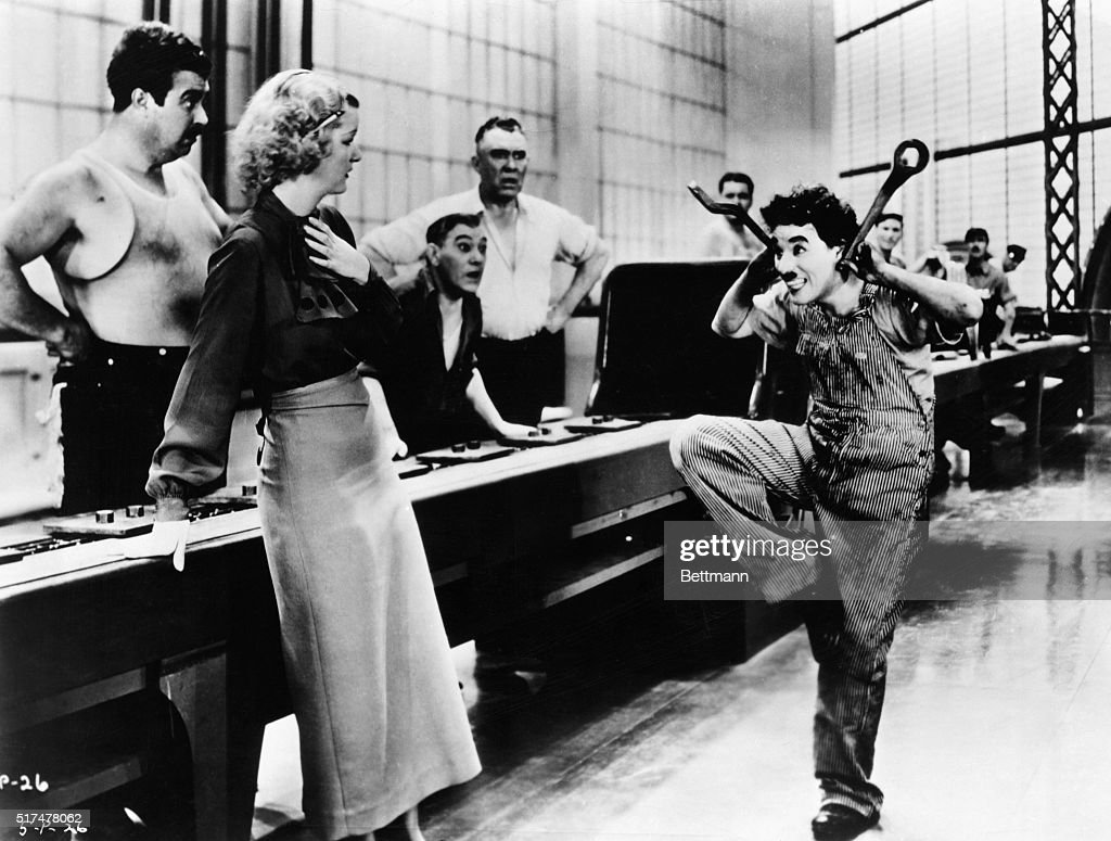 chaplin s mad in modern times pictures getty images