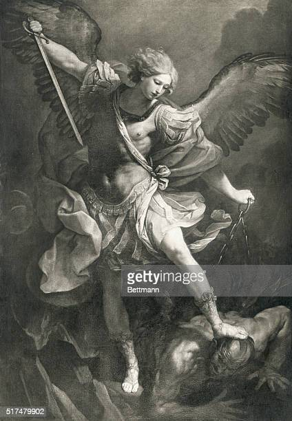 ST MICHAEL THE ARCHANGELPAINTING FROM CHIESA DI S MARIA DELLA CONCEZIONE ROMEUNDATED PHOTOGRAPH
