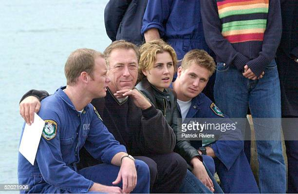 9 MAY 2000 BRETT PARTRIDGE STEVE BISLEY DEE SMART AND DIARMID HEIDENREICH THE MAIN CAST OF WATER RATS ON GOAT ISLAND CONCERNED ABOUT THE CHANGES TO...