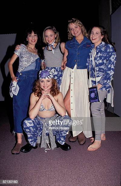 SEPTEMBER 1993 - HOME AND AWAY STARS MELISSA GEORGE , LAURA VAZQUEZ, CATHY GODBOLD, TINA THOMSEN AND KATE RITCHIE ATTEND THE FASHION INDUSTRY OF...