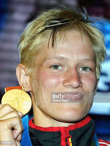 Sport / Diverses Olympische Spiele Athen 2004 Athen Deutsches Haus Judo 57kg Yvonne BOENISCH / GER GOLD 160804