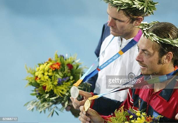 Tennis Olympische Spiele Athen 2004 Athen Einzel / Maenner / Finale Nicolas MASSU / CHI Mardy FISH / USA Mardy FISH / USA Silber Nicolas MASSU / CHI...