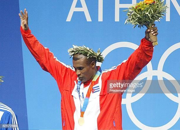 Boxen Olympische Spiele Athen 2004 Athen Finale / Leichtgewicht KHAN / GBR KINDELAN MESA / CUB Mario Cesar KINDELAN MESA / CUB Gold 290804