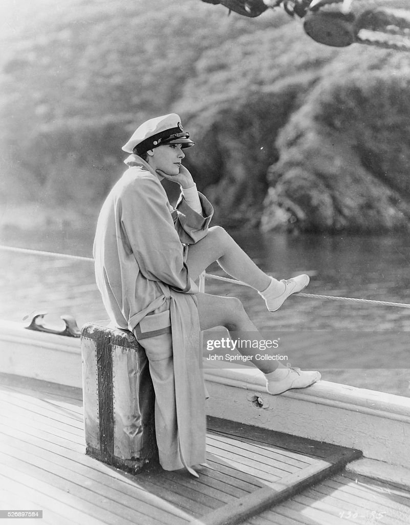 Greta Garbo Relaxing on Boat : News Photo