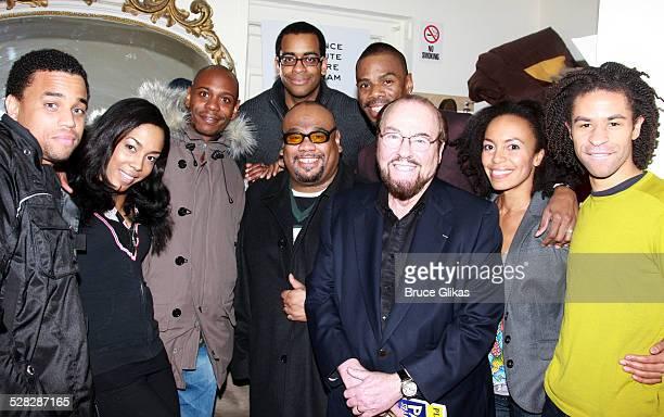 Comedian/Actor Dave Chappelle poses with Actor Michael Ealy , Actress De'adre Aziza, Actor Daniel Breaker, Actor Colman Domingo,...