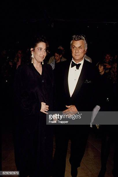 TONY CURTIS AND HIS NEW FIANCEE LISA DEUTSCH