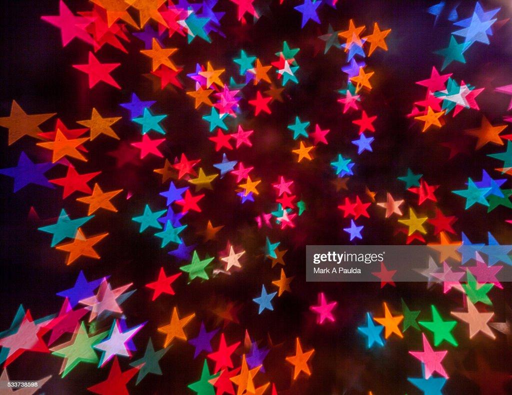 MULTI COLORED STARS : Foto stock