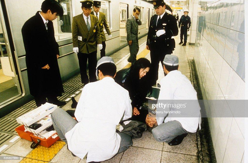 SARIN GAS ATTACK IN TOKYO METRO : ニュース写真