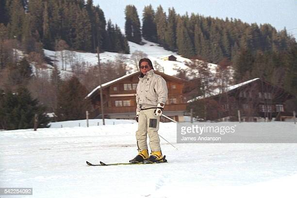 THE DESIGNER VALENTINO ON HOLIDAY IN GSTAAD
