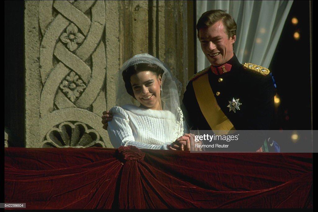 WEDDING OF HENRI OF LUXEMBOURG AND MARIA TERESA : Nieuwsfoto's