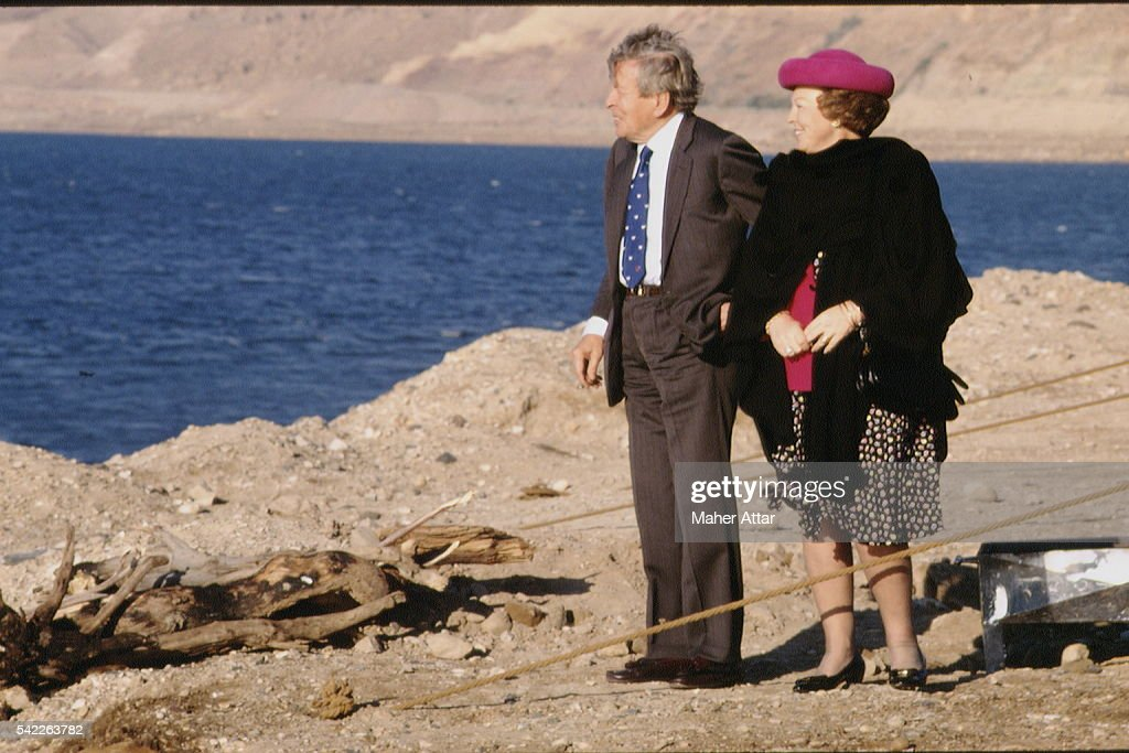 THE DUTCH ROYAL COUPLE VISITING JORDAN : Nyhetsfoto