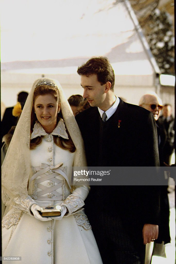 MARRIAGE OF KARL HAPSBURG & FRANCESCA VON THYSSEN. : News Photo
