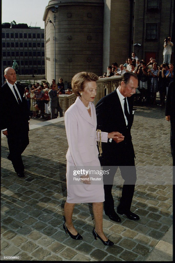 FIRST ANNIVERSARY OF THE DEATH OF KING BAUDOUIN : News Photo